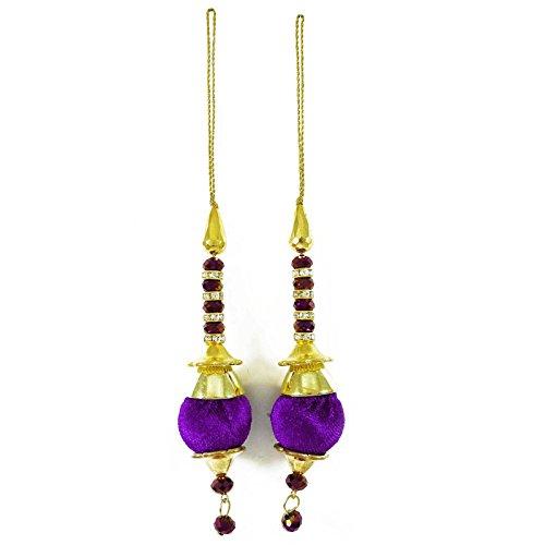 Purple Velvet Bluse (Purple Velvet Quasten Beaded Sari Latkans Craft Versorgung Nähzubehör 1 Paar)