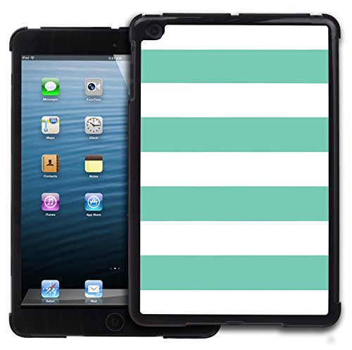 Graphic4You Color Stripes Farbstreifen Muster Design Harte Hülle Case Tasche Schutzhülle für Apple iPad Mini 1 / 2 / 3 (Tiffany Blau) (3 Case Mini Ipad Tiffany)