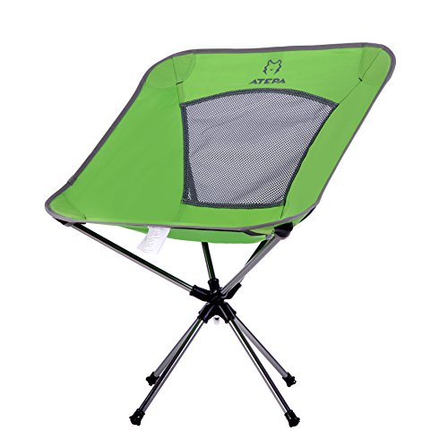 ATEPA Ultraleicht 360° Grad Drehung Klappdrehstuhl für Camping, Angeln oder Festivals