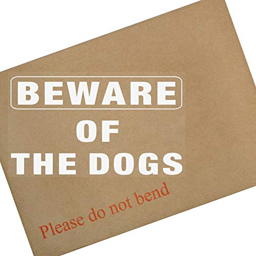 1 x BEWARE OF THE dogs-window selbstklebendem Vinyl sticker-white/clear-security Warnschild Label Home-security-sticker