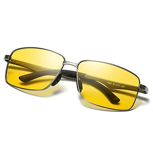 Polarisierte UV400 UV Cut Nachtsicht-Sonnenbrille Leichte Teardrop-Sonnenbrille Angeln Fahren Herren Damen Nachtsicht-Sonnenbrille Brille (Color : Schwarz, Size : Kostenlos)
