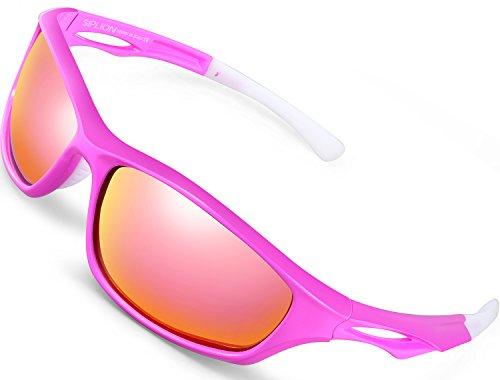 SIPLION Herren Sports Radfahren Sonnenbrille Polarisiert TR90 Superleichtes Rahmen 503 RED