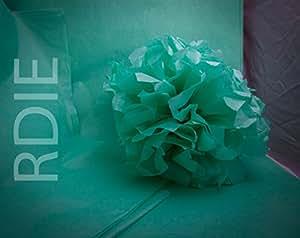 24 feuilles de papier de soie Vert d'eau, 50x75cm, 18 grs