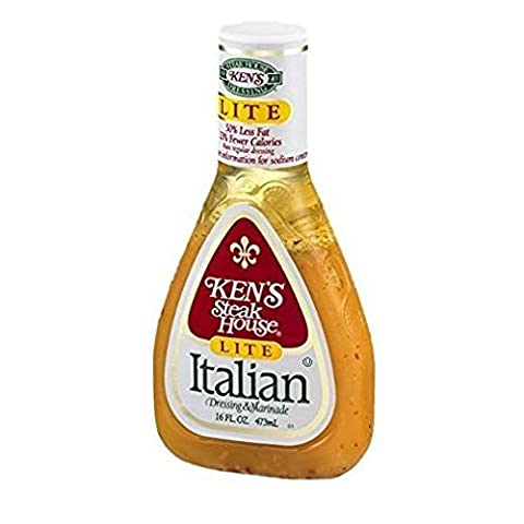 Ken's Steakhouse LITE Italian Dressing & Marinade (3 Pack) 16