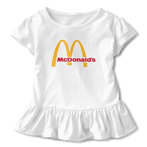 Kinder Baby Mädchen Sommer T-Shirt McDonalds Logo T Shirt Casual Tee Shirts Für Kleinkind Mädchen Kurzhülse Kleidung Weiß 4 T Yellow Footed Sleeper