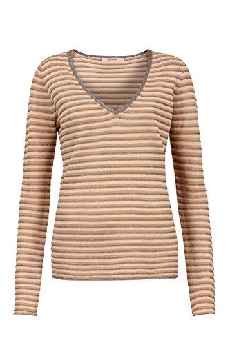 bloom Pullover mit V-Ausschnitt, Streifen 40, Mehrfarbig -