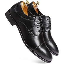 one8 Select by Virat Kohli Men's Black Leather Derby Shoes
