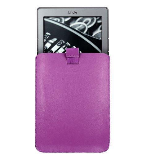"Aquarius - Funda blanda con lengüeta para Amazon Kindle 4 (6"")/Wi-Fi 3G/Kobo Touch 2011 morado"