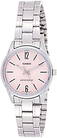 Casio Women's Rose Gold Dial Stainless Steel Analog Watch - LTP-V005D-4