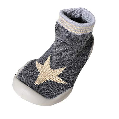 Mitlfuny Unisex Babyschuhe Mädchen Jungen Anti-Slip Socken Slipper Stiefel,Baby Socken Soft Bottom rutschfeste Boden Gummisohlen Kleinkind Girl Boy Infant Socken