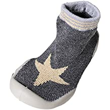 Mitlfuny Niños Niñas Invierno Otoño Zapatillas Calcetines de Piso Suela de Goma Tejer Calientes Zapatos para