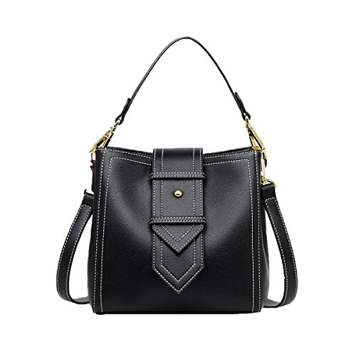 Frauen Tote Bag Schultertasche Mode Elegant Shopper Bag PU-Leder Damen Handtasche Damen Tasche Eimer Tasche Black