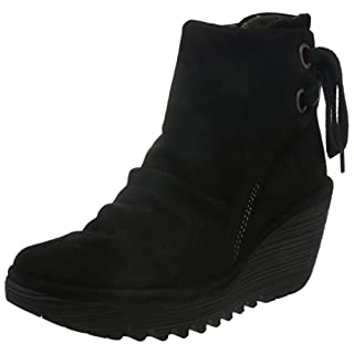Fly London Yama Oil Suede Women's Boots - Black, 5 UK