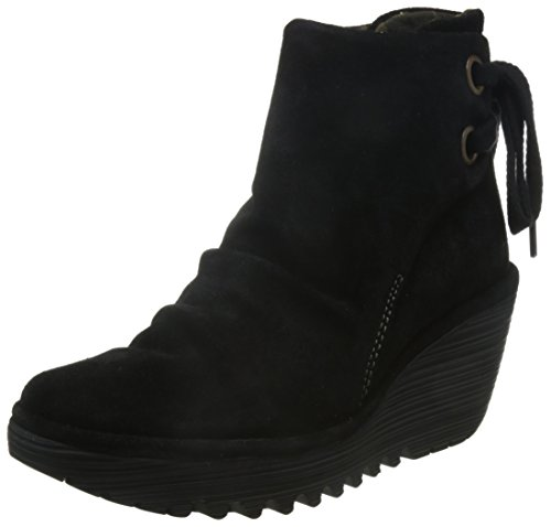 Fly London Yama - Stivaletti Donna, Nero (Black 006), 37 EU
