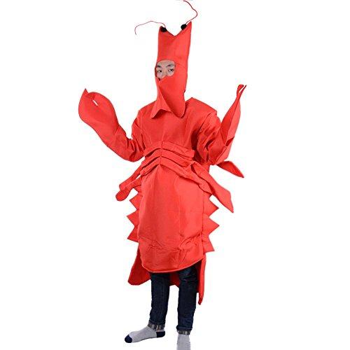 Kostüm Kinder Garnelen - LSERVER Cosplay Tier Kostüm Bühnenkostüm Eltern-Kind Halloween-Kostüm, Garnele Erwachsener, M(Fabrikgröße: L)