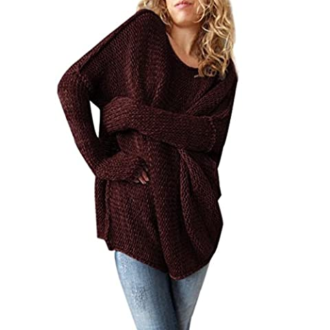 Womens Jumper, Xinantime Long Sleeve Oversize Loose Sweater (XL, Red)