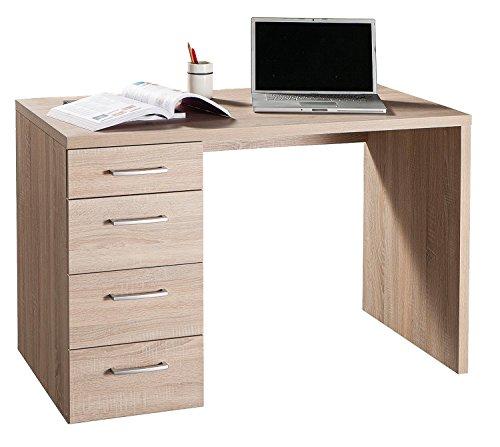 Avanti trendstore combo - scrivania con 4 cassetti in laminato di legno quercia, dimensioni: lap 110x74x60 cm, rovere