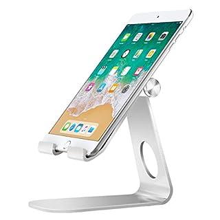 MoKo Handy/Tablet/E-Reader Ständer - 210°Grad Multi-Winkel Aluminium Desktop Halterung Ersatz für New iPad Air 3, iPad Mini 5, iPhone X/8/8 Plus, Galaxy Note 10 Plus 6.8