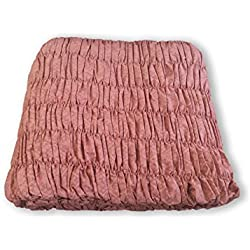 Copridivano Angolare Universale Arricciato Colore Rosa Antico Angolare Rosa Antico