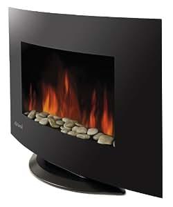 Trevidea caminetto elettrico da parete con fiamme al led for Caminetto elettrico da parete