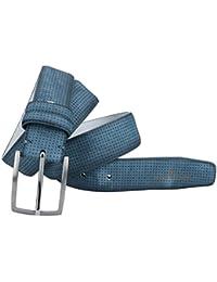 Cinturón hombre SERGIO TACCHINI azul lisa sin pespuntes VR1351