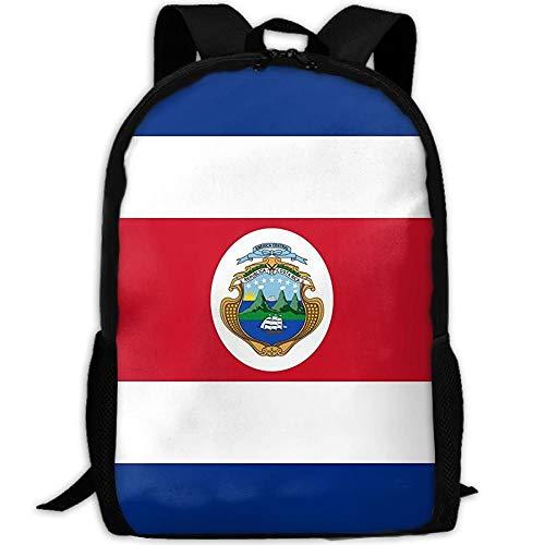 Wfispiy Costa Rica Flagge Polyester Flagge Stilvolle Laptop Rucksack Schulrucksack Bookbags Hochschultaschen Daypack -