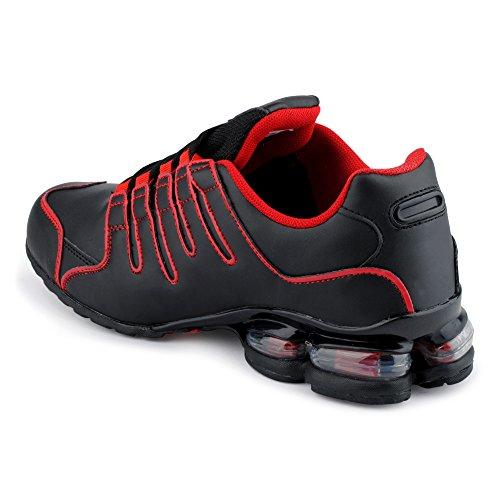 Calzature Uomo Donna Sneaker Sport Scarpe Da Corsa Tempo Libero Neon Runner Fitness Basso Unisex Scarpe Nero / Rosso-m