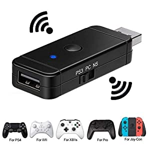 Bluetooth Wireless Controller Adapter für den Nintendo Switch / PS3 / PS4 / Xbox Converter Empfänger Controller für Nintendo Switch PS3 und Windows PC