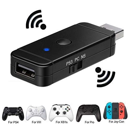 Bluetooth Wireless Controller Adapter für den Nintendo Switch / PS3 / PS4 / Xbox Converter Empfänger Controller für Nintendo Switch PS3 und Windows PC