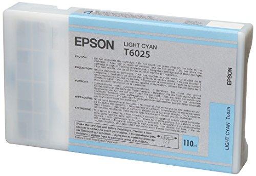 Epson T6025 Cartouche d'encre d'origine Cyan Clair (110Ml)