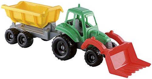 Jouets Ecoiffier -327 - Tracteur avec remorque - Jeu de plein air - Dès 18 mois - Fabriqué en France