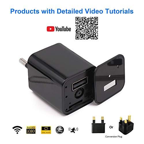 WiMaker cámara espía Oculta WiFi 1080P HD Mini Cargador USB Cámara