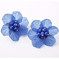 CFHBGK Personality Flower Generous Temperament Fairy Earrings Trendy Women Rhinestone