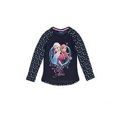 Idea Regalo - Frozen maglietta Langarms manica lunga Elsa Anna Olaf da 3 anni a 8 anni