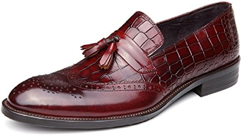 Herren Schuhe Leder Frühling Sommer handgemachte neue Leder Casual Herrenschuhe Comfort Loafers  SlipOns für
