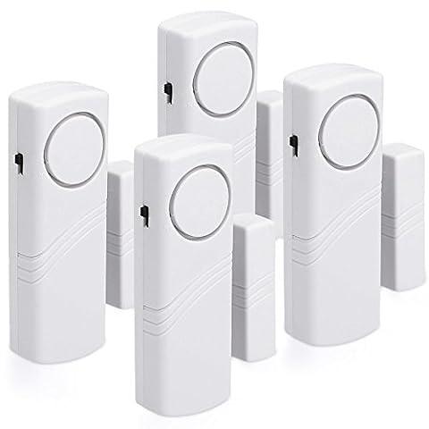 kwmobile Alarme pour portes et fenêtres - Ensemble de 4