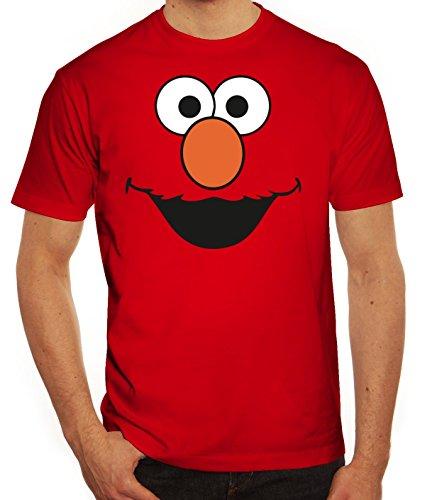 Karneval Fasching Verkleidung Herren T-Shirt Gruppen & Paar Kostüm Red Monster, Größe: M,Rot