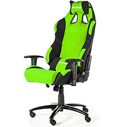 AKRacing Prime – AK-7018-BG – Silla Gaming, Color Negro/Verde