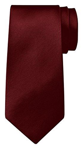 BomGuard Krawatte einfarbig 8 cm breit in Bordeauxrot