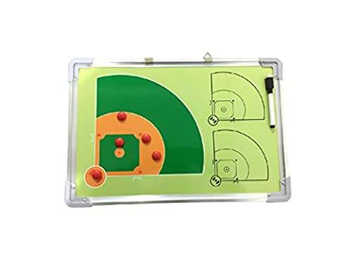 Odowalker Baseball Coach Tactics Board Aluminum Frame Coach's Traning Aid Match Plan Strategy Whiteboard Clipboard
