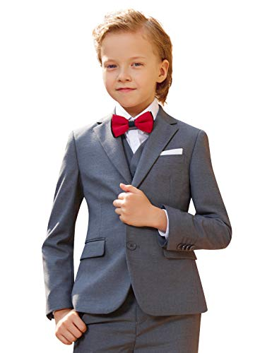 ELPA ELPA Graue Anzug Jungen Smoking Anzug Kinder Kostüme dünne Klage Formelle Kleidung, Grau, ()