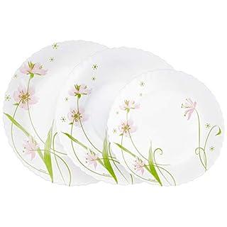 Dajar Selma Table Service Set 18Pieces. Arcopal White Pink Green 31.3x 16.1x 29.7cm Glass, Units