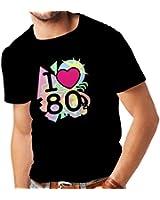 N4331 Männer T-Shirt Ich liebe 80er Jahre
