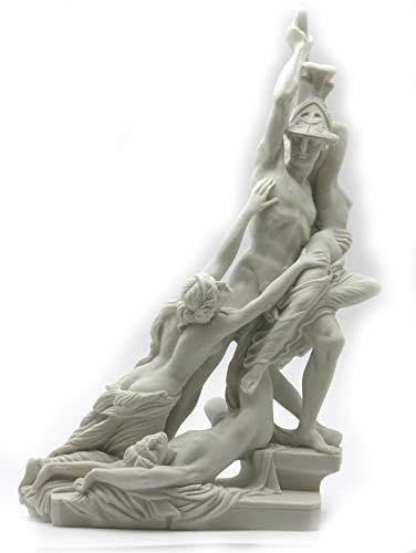 Die Vergewaltigung von Polyxena Griechischer Held Achilles Nude Cast Marmorstatue Skulptur 20 cm