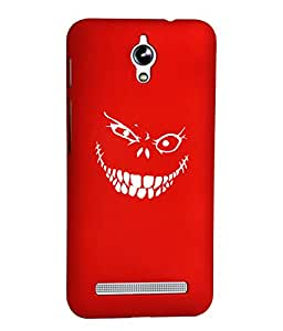 KolorEdge Printed Back Cover For Asus Zenfone C ZC451CG - Red (1281-Ke15184ZenCRed3D)