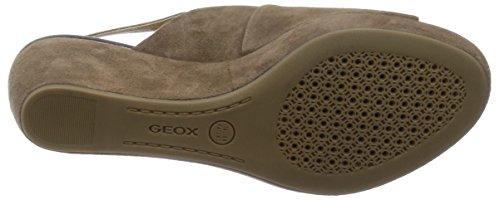 Geox D52N9B00021 Keilschuhe Damen Wildleder Tortora