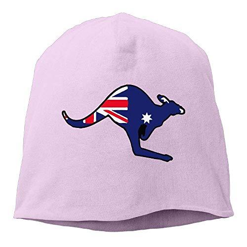 Zhgrong Men's and Women's Comfortable Knitted Hat, Australian Flag Kangaroo Ski Cap for Mens & Womens Sports Cap