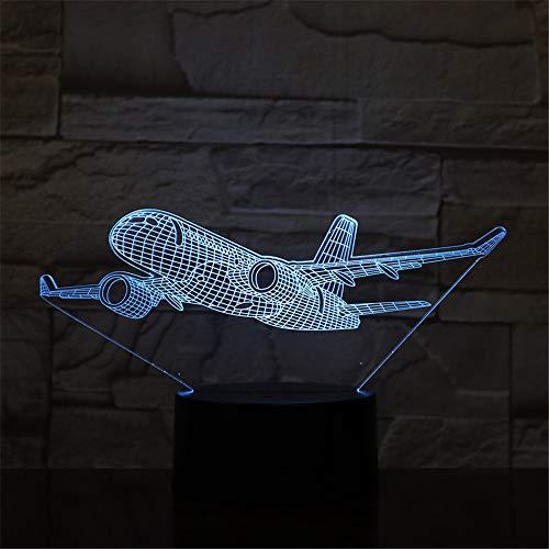 3D LED Nachtlicht Passagierflugzeug mit 7 Farben Licht für Hauptdekoration Lampe Erstaunliche Sichtbarmachung Optische Täuschung ## 9 - 9 Schuppen