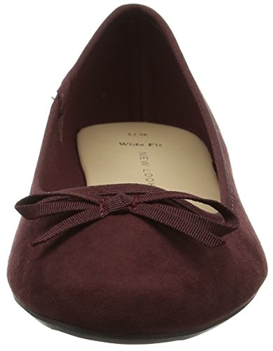 New Look Damen Wf Laire-Leadin Toe Ballerina Violett (Dark Purple)