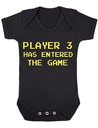 Reproductor 3 ha entrado en la Game Funny Babygrow Onesie